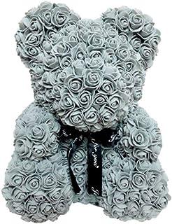 Rosenbär Rosebear 25cm Grau Muttertag Freundin Hochzeitstag Hochzeit Deko NEU