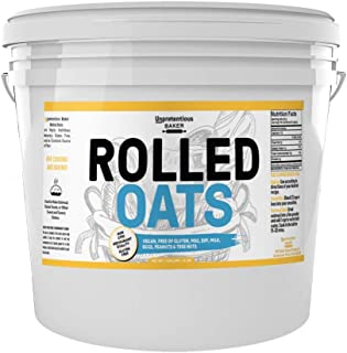 Rolled Oats, 1 Gallon Bucket, by Unpretentious Baker, Highest Quality, Old Fashioned Oats, Whole Grain, Naturally Gluten Free, Vegan, Non-GMO, Excellent Source of Fiber