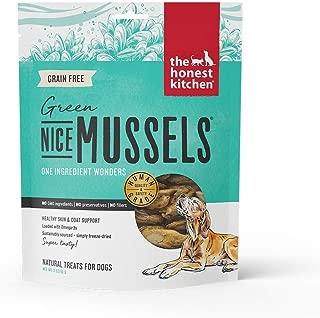 Honest Kitchen Nice Mussels Dog Treats - Natural Human Grade Freeze Dried Treats  Blue & Green Mussels  2 oz