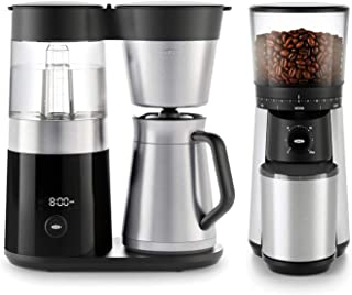 OXO BREW 9 Cup Programmable Coffee Maker Bundle with OXO BREW Conical Burr One Push Start Coffee Grinder - Stainless Stee...