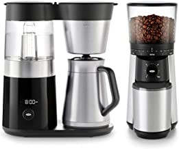 OXO BREW 9 Cup Programmable Coffee Maker Bundle with OXO BREW Conical Burr One Push Start Coffee Grinder - Stainless Steel...