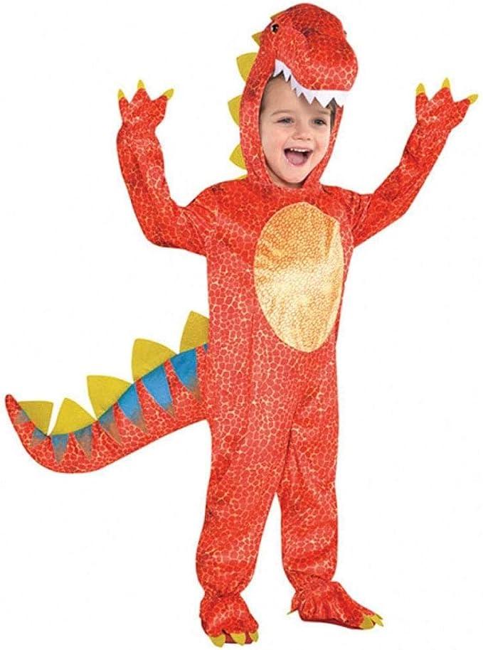 Amscan 844661-55) - Disfraz infantil con diseño Dinosaurio, talla S 4-6 años: Amazon.es: Juguetes y juegos