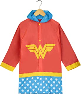 DC Comics Girls Wonder Woman Printed Waterproof Hooded Rain Slicker