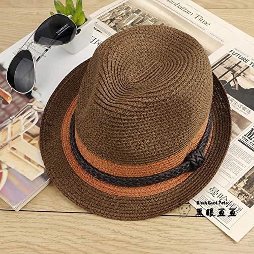 IFMASNN Outdoor, Mode, Trend, hohe Qualität,Stroh Sonnenhut Strohhut PanamaKaffee