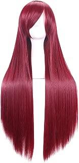 C-zofek Steins Gate Makise Kurisu Straight Cosplay Wig Scarlet 100cm (Scarlet)