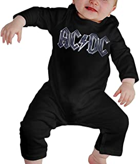 Tdsgbd ACDC Baby Winter Cotton Warm CrawlerLong Sleeves Romper Black