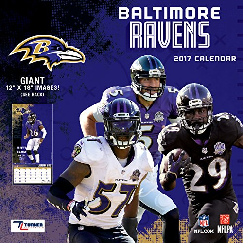 "Turner Licensing Sport 2017 Baltimore Ravens Team Wall Calendar, 12""X12"" (17998011901)"