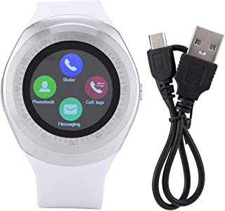 Android Smartwatch, Touchscreen Wrist Smart Phone Watch Sports Fitness Tracker with SIM SD Card Slot Camera Pedometer for Kids Men Women(White)