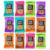 Oh! Nuts Granola Single Serve Packs | Healthy Gourmet Set w/ 12 Assorted Serving Size Bags of Toasted Oats, Nuts & Dried Fruit | Perfect High Protein Pantry Snacks for Cold Cereal, Yogurt & More