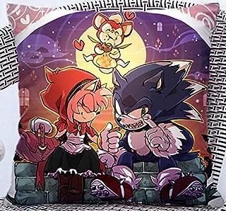 FENGHU Sonic Pillow Sonic el erizo almohada anime bidimensional película juego de mano periférico cojín almohada doble doble cara del estudiante día regalo
