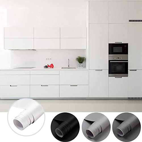 Cahomo 61 * 550cm Papier Peint Adhesif PVC , Épaissir Mat sans Bulles Papier Peint Auto-Adhésif pour Armoire de Cuisi...