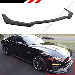 Fits for 2018-2019 Ford Mustang GT Ecoboost Performance Pack Style Add-on Front Bumper Lip Splitter