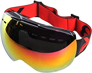 DSLSM 調節可能な滑り止めストラップ付きX 3 SG 1倍防曇レンズスケートスキースノーボードゴーグル