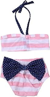 Cuekondy Toddler Kids Baby Girl Watermelon Lemon Print Bikini Swimsuit Set Halter Swimwear Tops+Shorts Bathing Suit 2pc