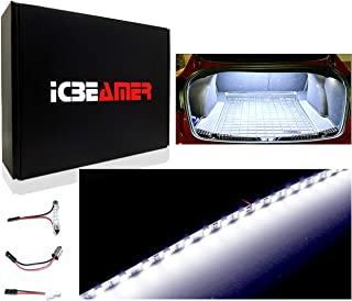 """ICBEAMER Super White 12"""" inch 24-SMD-2835 Chips LED Strip Light Universal Fit for Car Trunk Cargo Area or Interior Illumin..."""