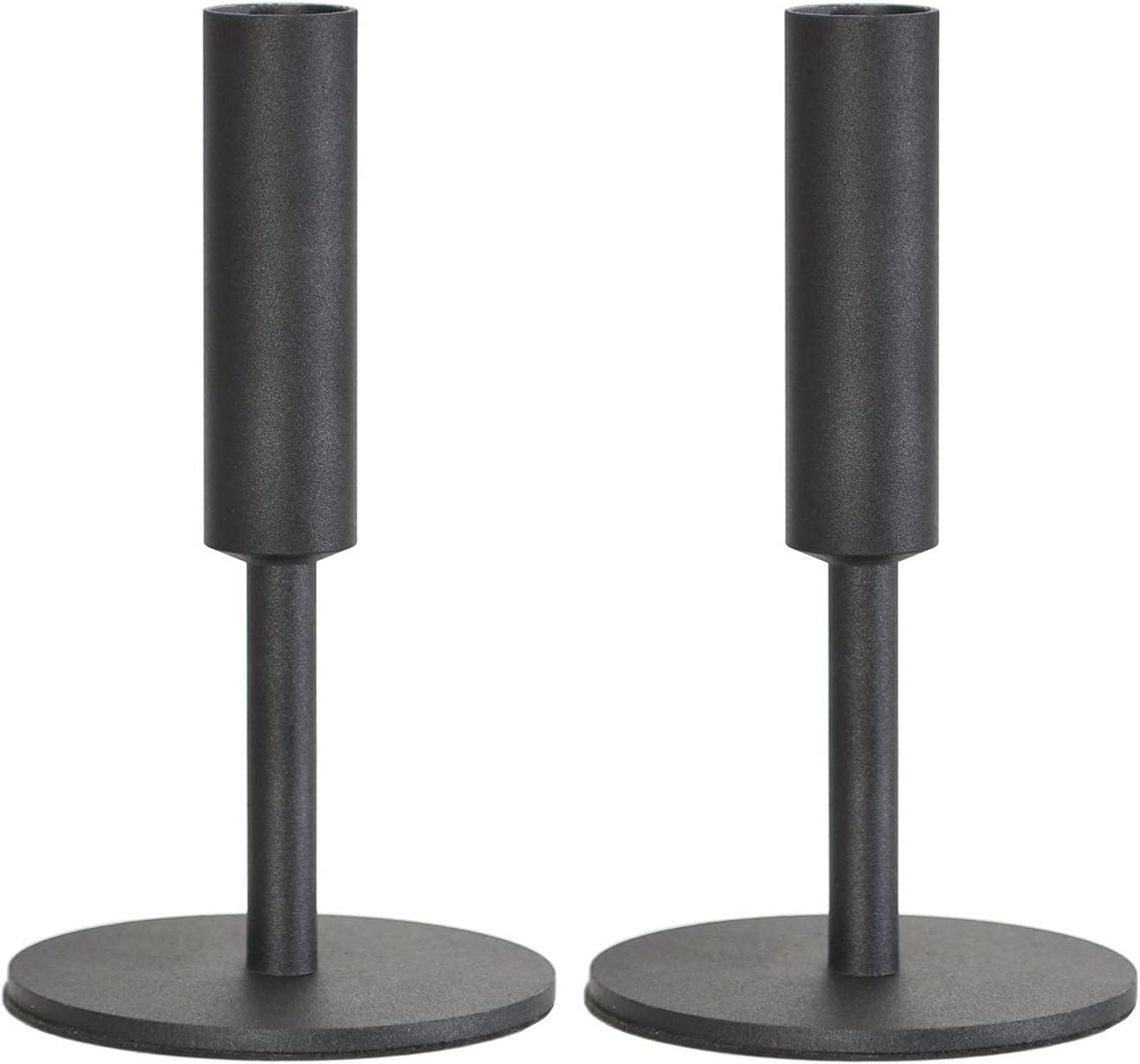 2 Special Quality inspection Campaign Pieces Candle Holder Solid Color Dec Candlestick Desktop Metal