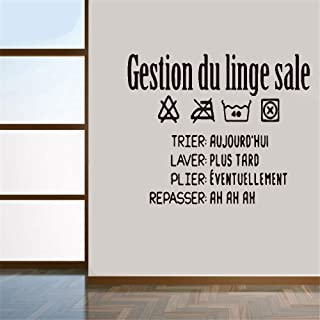 stickers muraux nuages Gestion Du Linge Sale For Laundry Room