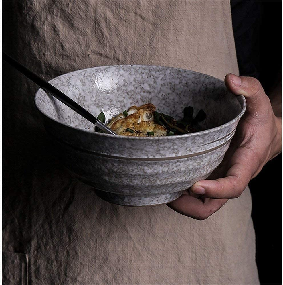 Ramen New mail order bowls Bowls Retro Large Ceramic 4 years warranty Rame Bowl Noodle Soup Beef