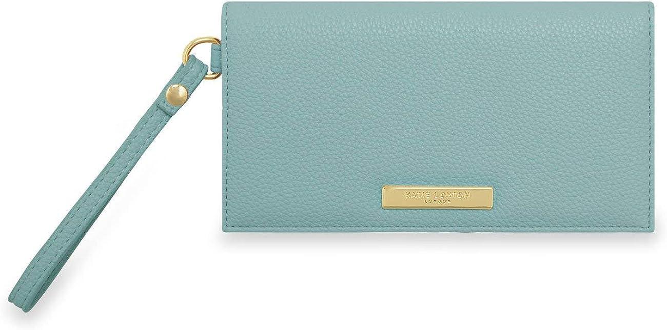 Katie Loxton Cleo Womens Soft Pebble Vegan Leather Wallet Purse Wristlet Blue