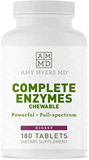 Sponsored Ad - Dr Amy Myers Digestive Enzymes Chewable – Complete Enzymes Support Leaky Gut, Acid Reflux, Gas, Bloating, G...
