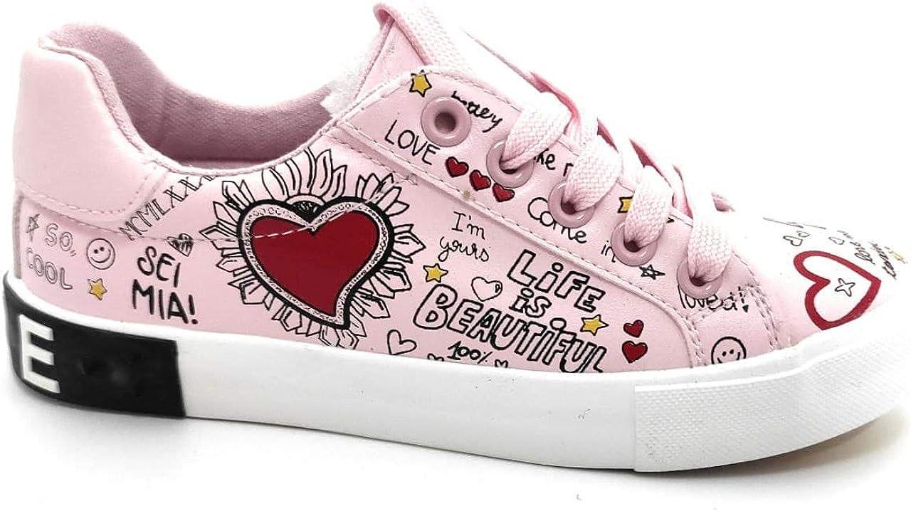 Encarni Zapatería - Zapatillas Niña Dibujos Love   Bambas para Colegio Chicas   Deportivas Bonitas