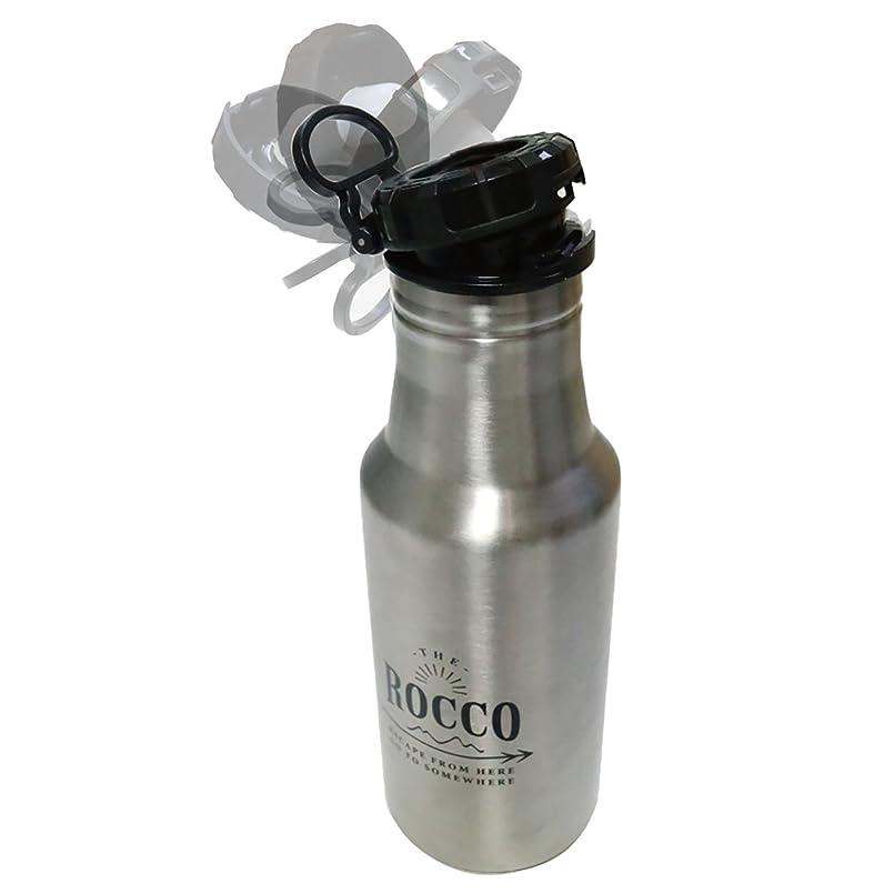 インカ帝国候補者マスクグローバルアロー ロッコ ワンタッチボトル シルバー 500ml Rocco OT Bottle 500 SV K04-8081