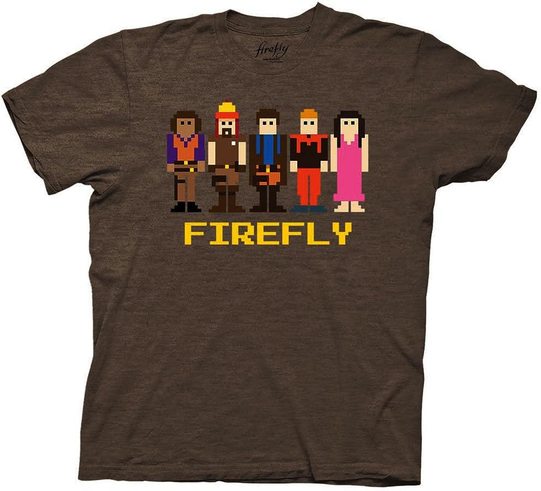 Firefly 8Bit Crew Chocolate Heather TShirt   L