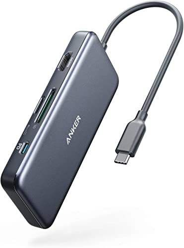 wholesale Anker USB C Hub, PowerExpand+ 7-in-1 USB C Hub Adapter, with 4K HDMI, 100W Power Delivery, USB-C and 2 USB-A outlet online sale 5Gbps Data Ports, microSD and SD Card Reader, for MacBook Air, MacBook Pro, XPS, and popular More sale