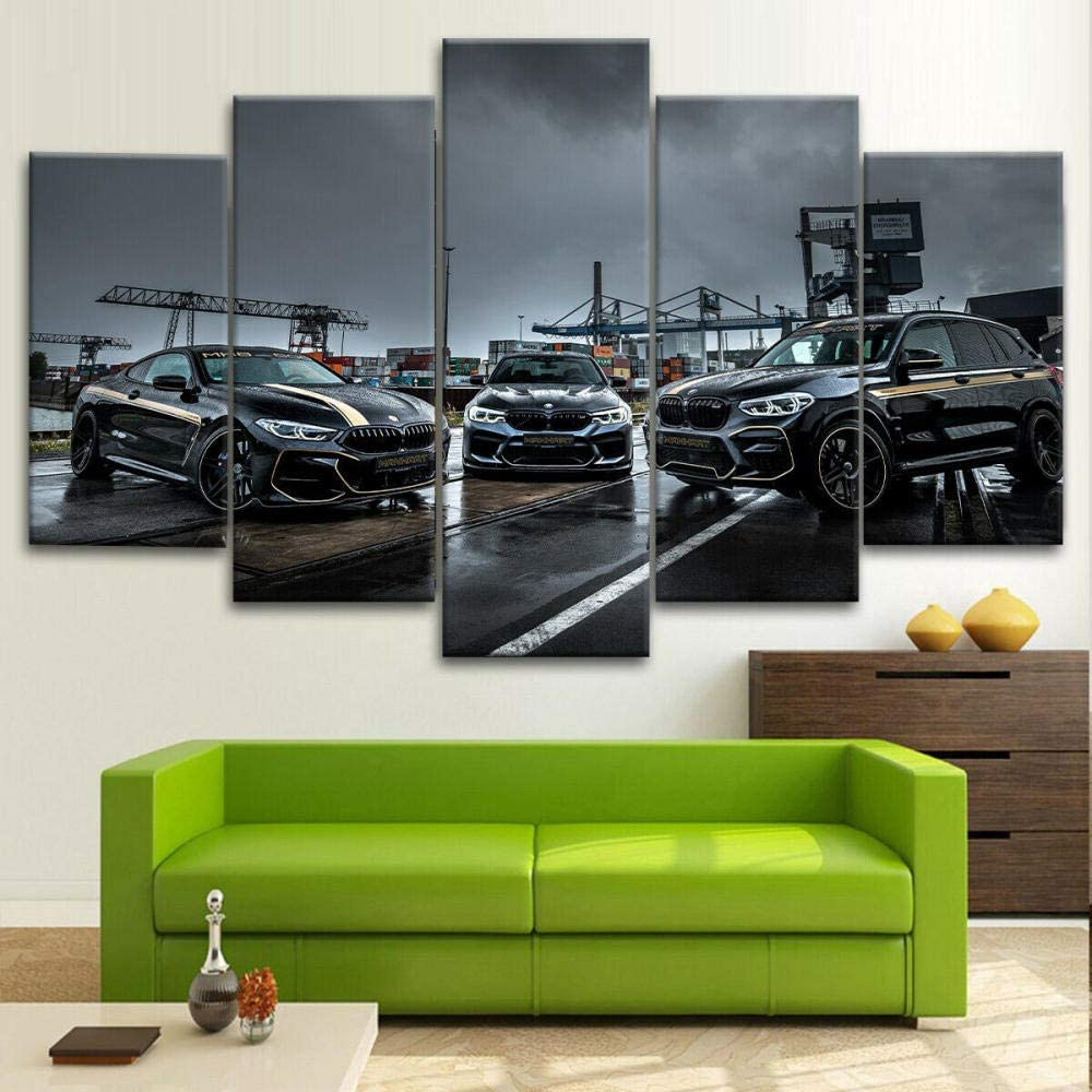 FGTH 5 Piece Canvas service Bombing new work Wall Art Picture Cars Ph Peformance Luxury