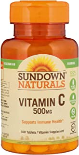 Sundown Vitamin C 500 mg Tablets 100 Tablets (Pack of 2)