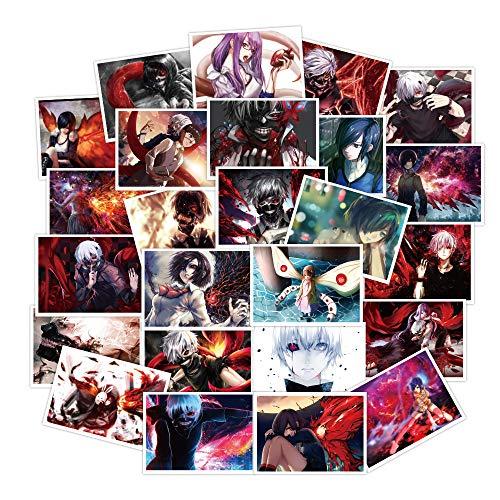 YOUKU Pegatinas de Maleta Tokyo Ghoul, Maleta, Guitarra, monopatín, Coche eléctrico, Protector...