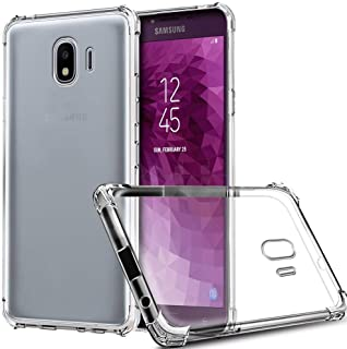 Protective Cover for Samsung Galaxy J4 2018, Anti-Shock, with Anti-Fall Corners, Transparent Tempered Silicon