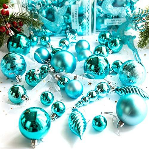 QWLHZW 30pcs de la Bola de PVC Decoración de Navidad, for el Colgante del árbol de Navidad en casa de los Ornamentos, Bola de plástico Elk Chucherías (Color : Red)