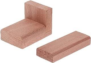 Pack Of 2 Guitar Wood Block OM Mahogany Bracewood Kit For Acoustic Guitar