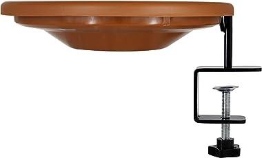 yosager Bird Bath Deck Bowl Spa Mount Bird Bath Unheated with Lightweight Detachable, Adjustable Heavy Duty Sturdy Steel, Gre