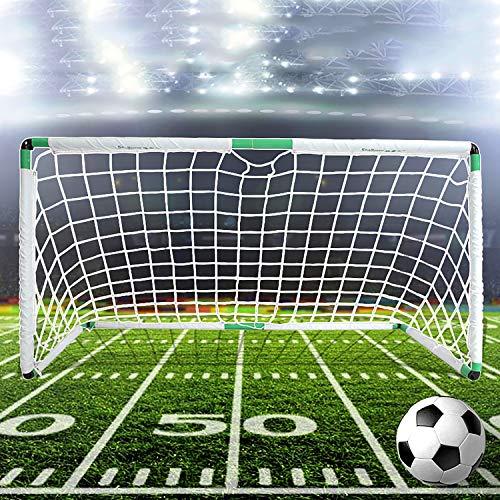 EODPOT Five player training net Junior Football Team Football Target Goal Portable Duty Weatherproof Durable Sports Soccer Nets Storage bag