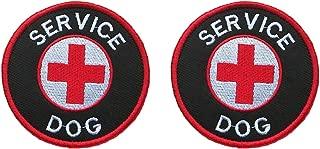 Antrix 2 Pcs Round Service Dog Patch Tactical Military EMT EMS Medical Medic Service Dog Morale Patch-Dia.3.15
