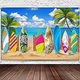Surfbrett Party Dekorationen, Strand/Surfbrett Hintergrund Banner Tropischen Hawaiianischen Party Hintergrund Banner für Strand Hochzeiten Party Dekorationen, 72,8 x 43,3 Zoll