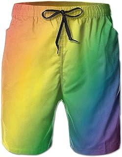 05d65ef1f8 Men's LGBT Pride Flag Gradient Quick Dry Summer Beach Surfing Board Shorts  Swim Trunks Cargo Shorts