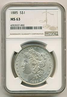1885 Morgan Silver Dollar MS63 NGC