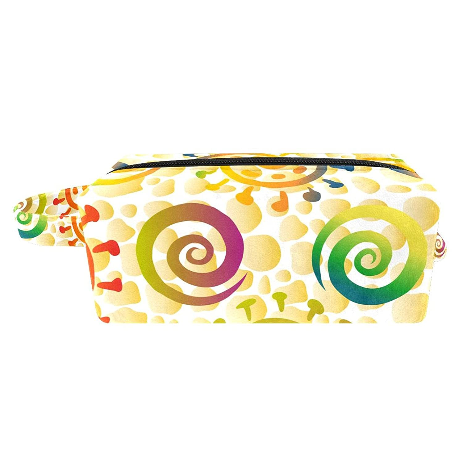 Makeup Bag Travel Cosmetic mart Colorful Rings Ranking TOP9 And Spirals Suns T