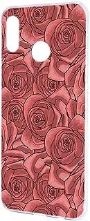 HUAWEI nova lite 3 (POT-LX2J) ケース ハードケース 【花柄:レッド】 ローズ 薔薇 型押し風 ノバライトスリー スマホケース 携帯カバー [FFANY] floribunda-h190531