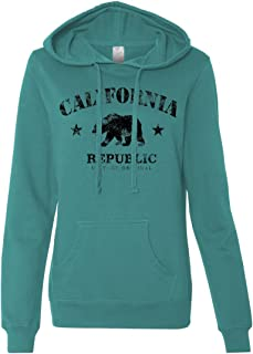 California Republic Vintage Original Ladies Lightweight Fitted Hoodie