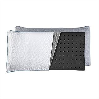 SOLBER Almohada viscoelástica Cooler |105 cm | Núcleo indeformable | Carbono Activo | Microperforada | Antiestrés | Funda con 2 Caras Invierno/Verano Tejido Cooler® |