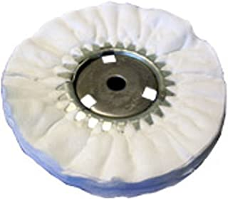 Zephyr AWW 58-10 FL White Domet Flannel Airway Buffing Wheel