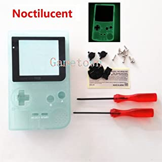 Gametown New Backlight Backlit Housing Shell Cover Case Replacement Parts For Nintendo Gameboy Pocket Console GBP System -Luminous Green Edition