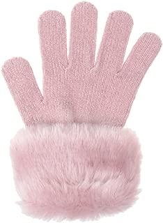 Chenille Glove With Faux Fur Cuff
