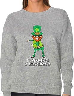 Tstars - St. Patrick Flossing & Shenanigans Leprechaun Funny Women Sweatshirt