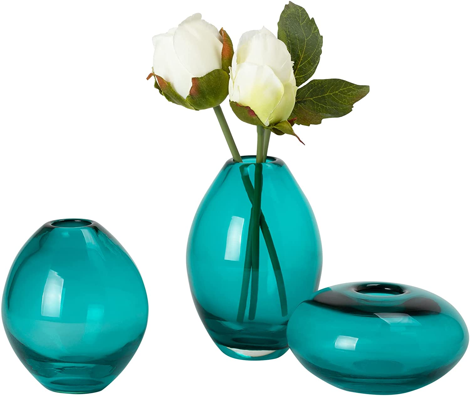Daily bargain sale Houston Mall Torre Tagus 901431 Mini Lustre Vases Assorted Turquoise Set