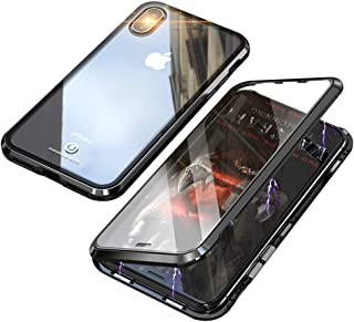 Hicaseer iPhone XR Case, Transparent Glass Anti-scratch Magnetic Non-slip Protective Case for Apple iPhone XR -Black